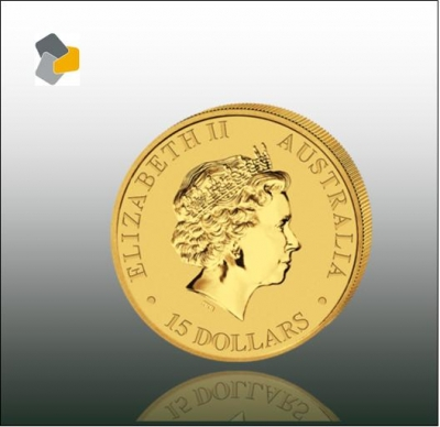 Australisches Nugget 1/10 oz Gold