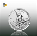 Maple Leaf - Wildlife 2012 Puma 1oz Silber -Differenzbesteuert nach § 25 a UstG
