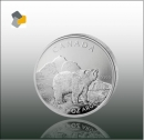 Maple Leaf - Wildlife 2011 Grizzly 1oz Silber - Differenzbesteuert nach § 25 a UStG